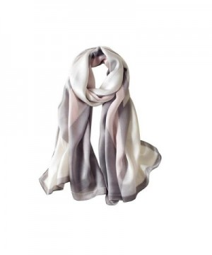 Silk Scarf Gradient Colors Scarves Long Lightweight Sunscreen Shawls for Women - Gray - CA1806E6G0H