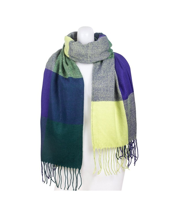 ChikaMika Winter Scarves for Women Warm Scarf Winter Scarves for Men Kids - Blue/Green - CC187ONKQNT