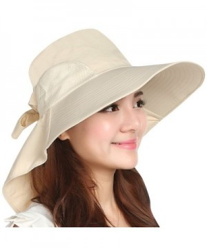 Kaisifei Outdoor sun hat large brimmed sun hat UV beach - Beige - CT12DOYQ56N