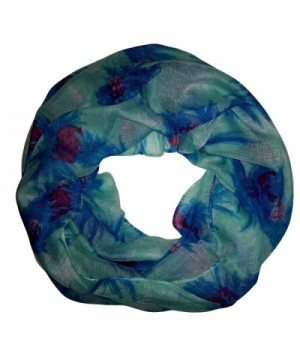 Lunar Lily Tropical Pineapple Infinity Loop Scarf - Blue - CE11XJTX80P