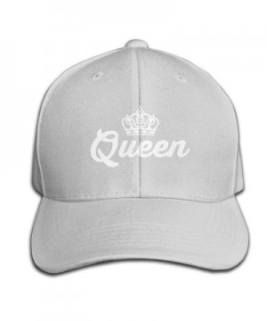Mens Fitted Hats Queen Lovers Couple Adjustable Cool Snapback - Ash - C112MYB2JD2