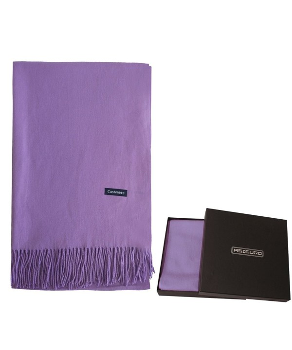 Pattern Different Material Cashmere Pashmina - Purple - CR187K6XADS