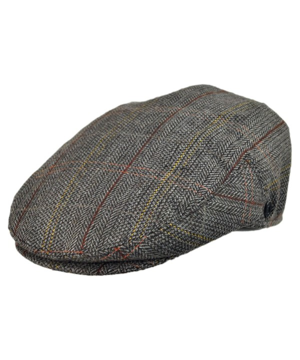Jaxon Tweed Ivy Cap - Brown/Grey Tweed - CR1147VOXI5