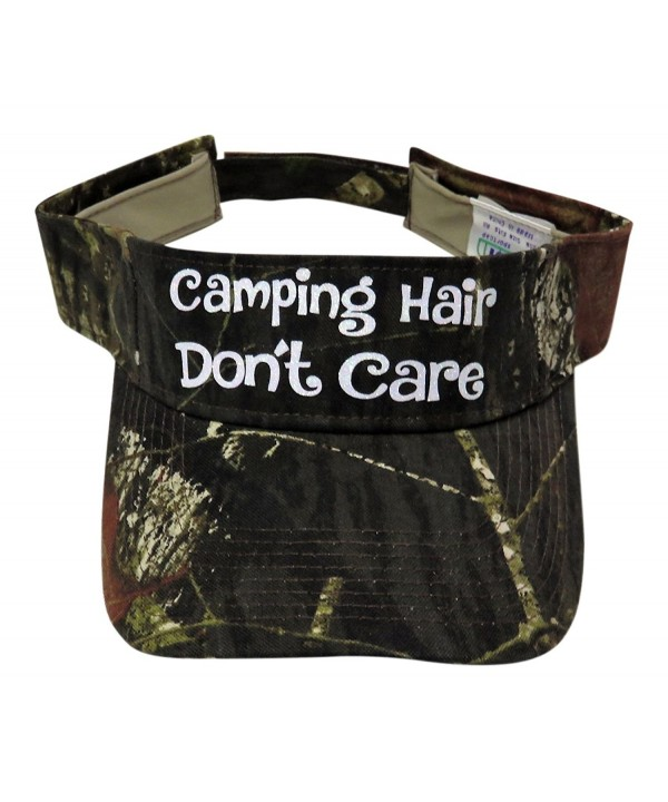 Glitter Camping Hair Don't Care Camo Visor Fashion Headwear Camp - Green Camo - CV1866NETWM