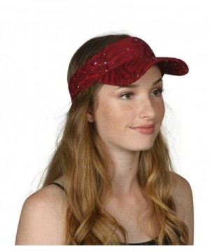 TOP HEADWEAR TopHeadwear Glitter Sequin Visor Hat (Various Colors) - Red - CC11V7THSM3
