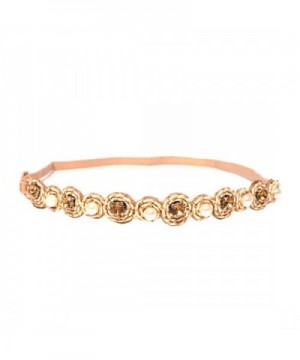 Mia Embellished Headband Beautiful All Measures Approximately - Beige- gold- faux pearls. - C0121NAAEAP