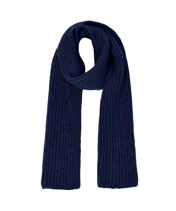Vbiger Unisex knitted Scarf Warm Wrap Shawl Thickened Winter Infinity Scarf for Men and Women - Navy Blue - C41884KMAMW