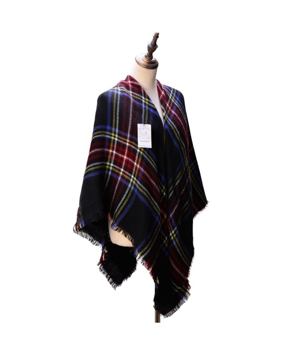 Women's Cozy Tartan Scarf Wrap Shawl Neck Stole Warm Plaid Checked Pashmina (4) - CH126HFNPW3