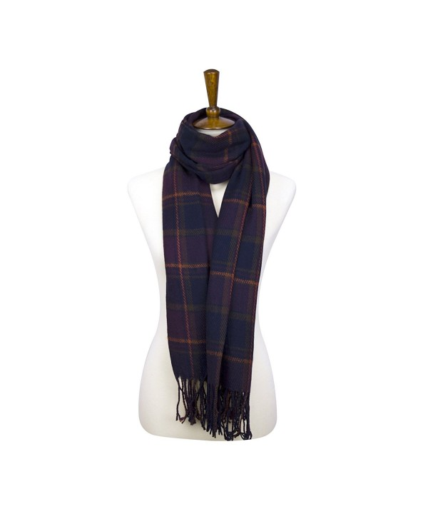 Rad Pixie Cashmere-like Acrylic Pashmina Large Winter Scarf Shawl Wrap - Plaid-purple - C31879ZHDWS