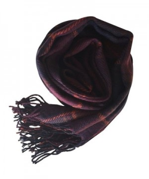 Rad Pixie Cashmere like Pashmina Plaid Purple in Wraps & Pashminas