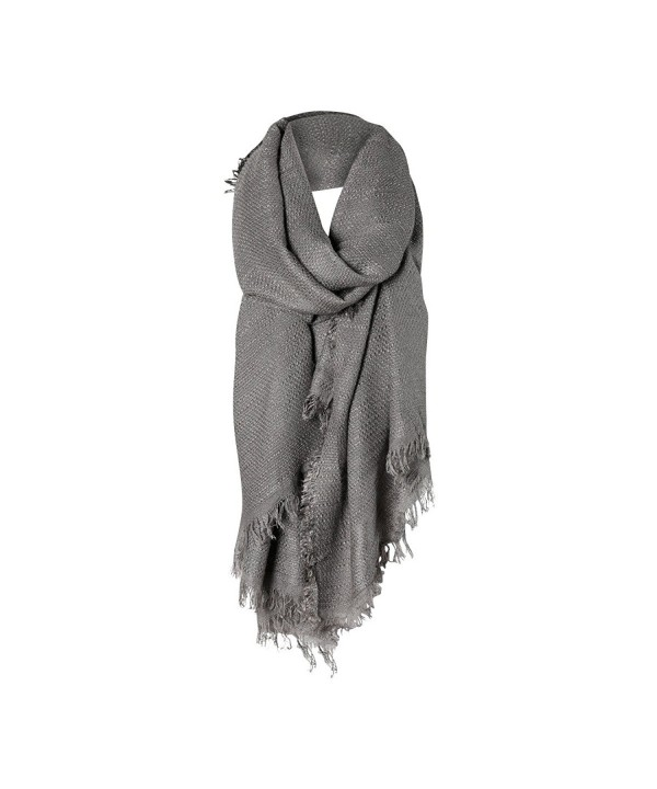 Charcoal Gray Solid Cozy Color Womens Fashion Warm Winter Blanket Scarf Scarves - CP1877DQI2Q