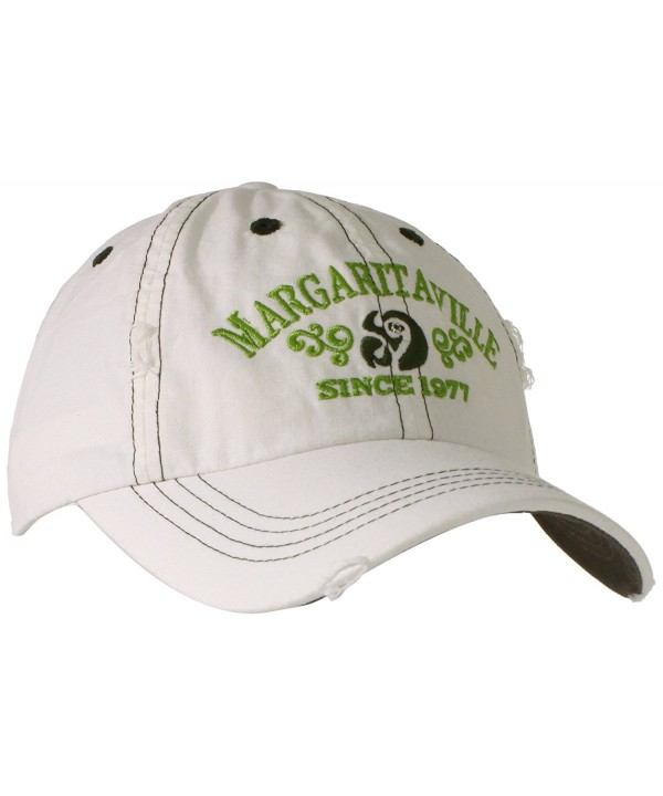 Margaritaville Men's Logo Hat - White - CF11CTPWEU5