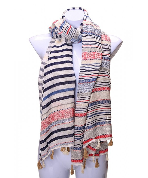 Velice Women's Light Weight Vintage Print Infinity Scarf Shawl Wrap - A-1 - CA12K0S0FF3