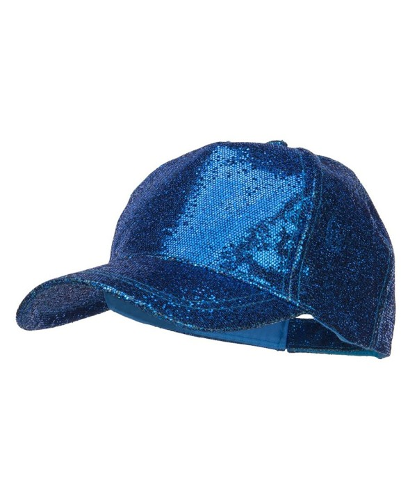Ladies Glitter Baseball Cap - Blue - CX12ENSCV5D