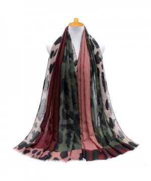 GERINLY Womens Scarves Colorful Leopard in Fashion Scarves