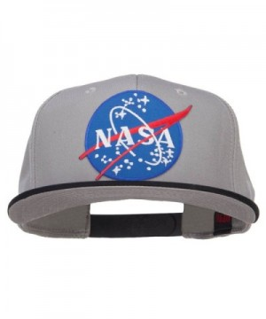 Lunar NASA Patched Two Tone Snapback - Black Grey - C11208E8FT7
