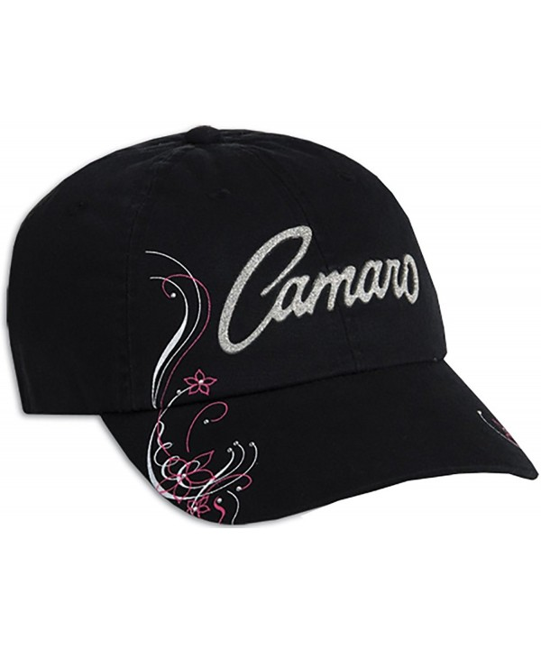 Camaro Ladies Glitter Cap - Black - C612HPOH3MD