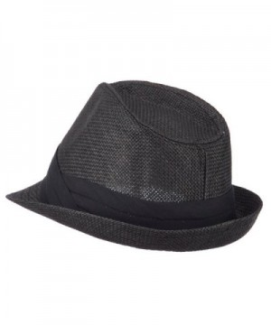 Mens Paper Fedora Hat Pinched