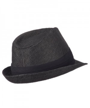 Mens Paper Fedora Hat Pinched in Men's Fedoras
