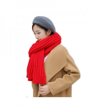 Solid Color Knitted Ladies Section in Fashion Scarves