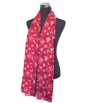 Lina Lily Christmas Snowflake Lightweight in Fashion Scarves