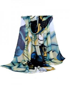 Creazy Fashion Lady Long Wrap Women's Shawl Chiffon Scarf Scarves - Blue - CZ12IH1DGPB