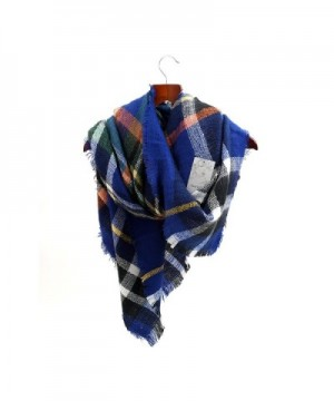 Women's Cozy Tartan Scarf Wrap Shawl Neck Stole Warm Plaid Checked Pashmina - CW11PK9KUM1