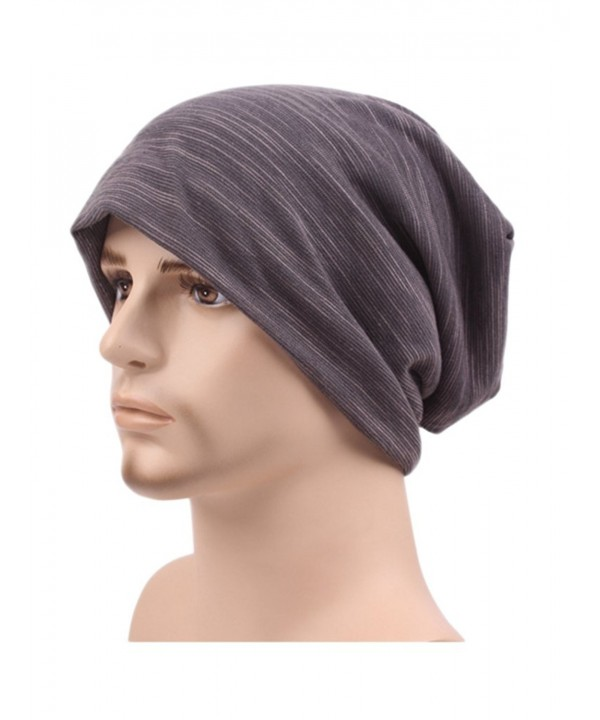 Unisex Winter Lightweight Stretch Beanie Chemo Cap Hats for Hairloss - Gray - C1186LI95SE