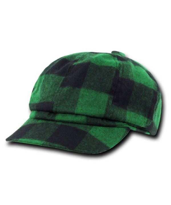 DECKY Plaid Newsboy Hats - Green - CN11B52EFXR