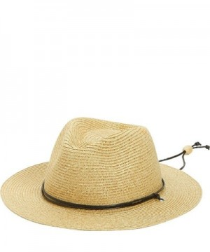 San Diego Hat Kids Paper Fedora with Braided Cord Chin Strap - Toast - CF11S3X01F7