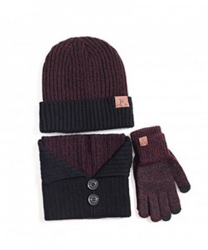 ZZLAY Winter Screen Slouchy Knitted - Wine Red - CO187AKWMYX