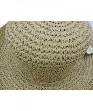Womens Beige Crocheted Kettle Hat in Women's Sun Hats