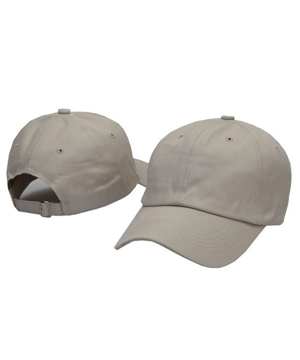 HH HOFNEN Unisex Twill Cotton Baseball Cap Vintage Adjustable Dad Hat - (Classic) Khaki - CY180ELIYGA