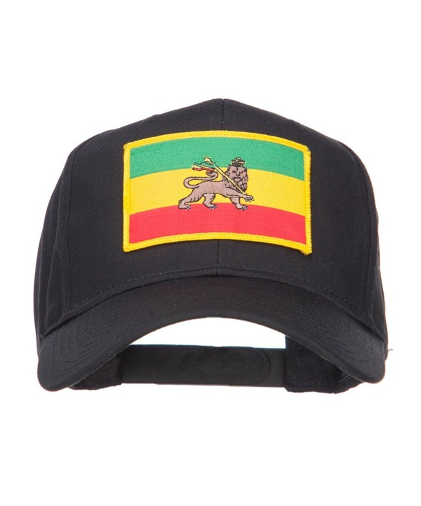 Rasta Flag Patched Cap - Ethiopia - Black - CJ11IN063OX