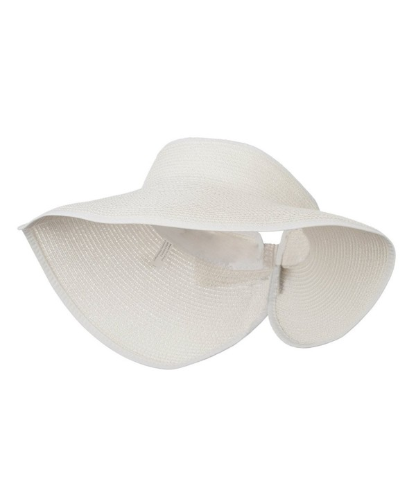 UPF 50+ Bow Closure Roll Up Visor - White W39S33D - CG11E8U6GWL