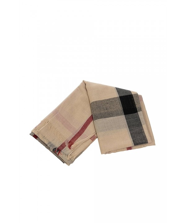JNTOP Women's Burberry Design Plaid Scarf Wrap - 0828_beige - CG186LZ9EW8