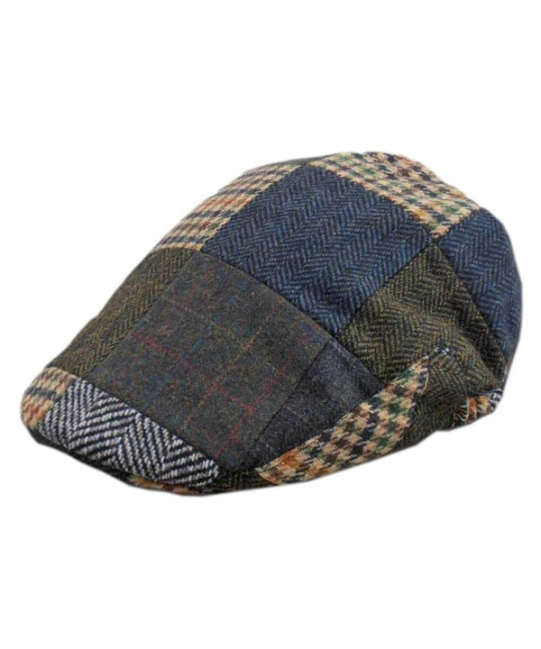 Men's Tweed Patch Cap- Authentic- Made in Ireland- Traditional Style - C311HP6L3TL