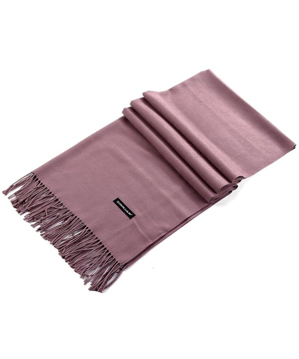 "ZORJAR Women Men Winter Scarf Cashmere Feel Fashion Scarf Warm Blanket 70""x25"" - Rosewood - C7186IHNNZH"
