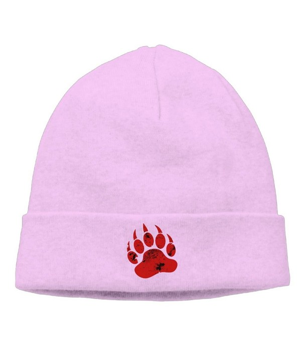 TinaTN Red Claw Unisex Wool Flock Cotton Knit Winter Warm Ski Hat Beanie Cap - Pink - CI188E2YEUA