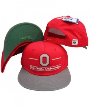 Ohio State Buckeyes Classic Split Bar Snapback Adjustable Snap Back Hat / Cap - CY116H1KTXB