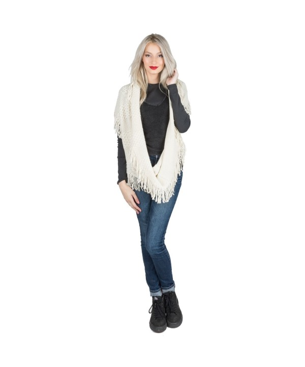 Aerusi's Fashion Womens Warm Infinity Scarf Wool Scarves Winter Evening Wrap - Beige - CS12N1S8T7T