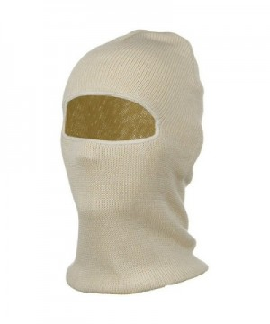 Cotton One Hole Face Mask - Natural - C2115RKZWUD