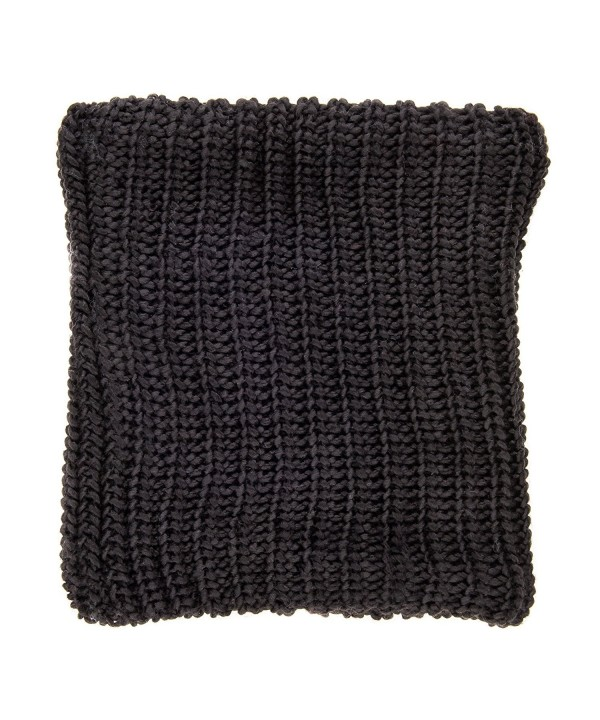 Noble Mount Womens Fleece-Lined Urban Snood Scarf - Black - CT121PNRDBV
