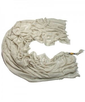 100% Modal Fabric Soild Color Extra Large and Soft Scarf Shawl - Whitesmoke - CR11TU5DXR5