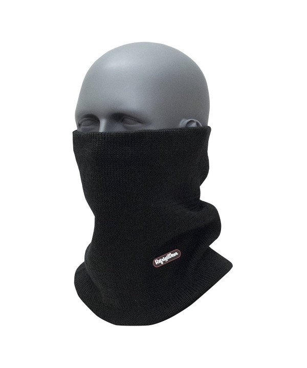 Refrigiwear Double Layer Warm Merino Wool Neck Gaiter - Black - C312N1ML2OB
