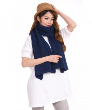 Anboor Luxurious Knitted Navy Blue in Fashion Scarves