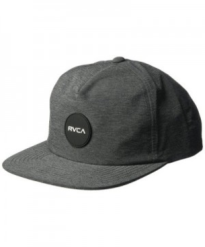 RVCA Men's Motor Delux Snapback Hat - Charcoal Heather - CZ17YH74KTI