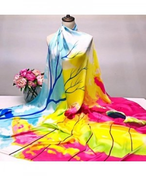Scarves Binmer TM Printing Silk Satin