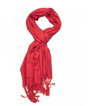 TC Luxurious Pashmina Viscose Cashmere feel Scarf in Beautiful Solid Colors - Crimson Red - CP12EIF1OEZ
