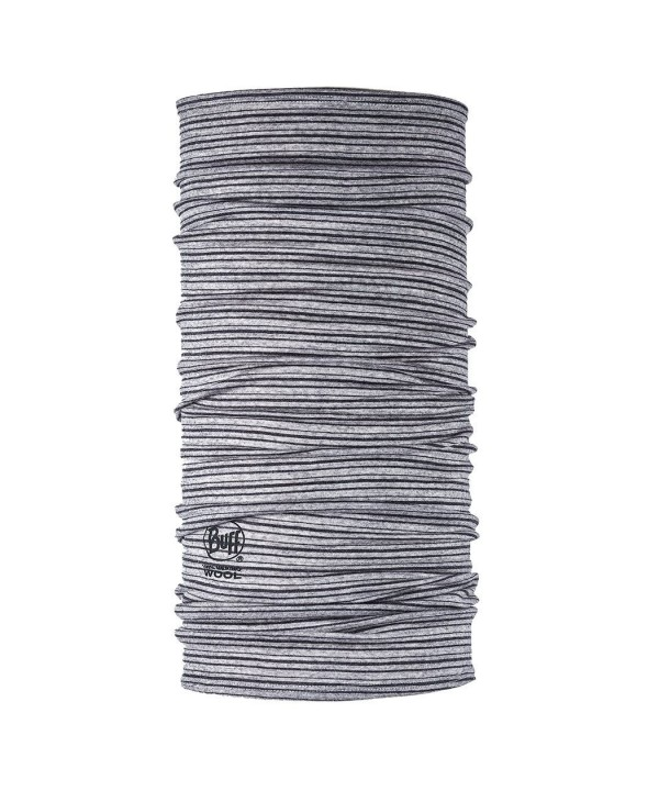 BUFF Lightweight Merino Wool Multifunctional Headwear - Light Grey Stripes - CK12HHRRLTD